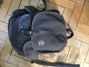 Blue Canvas Timberland Backpack - Rucksack - Genuine - Used