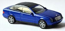 Mercedes Benz CLK Klasse A208 Cabriolet 1998-2003 blau metal 1:87 Herpa 032582