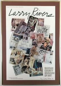 LARRY RIVERS SIGNED 23/150 1992 LI Nassau County Museum of Art Exhibition Poster