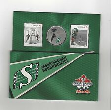 **2012**Canadian Football League Coin & Stamp Uncirculated Set, Sask. Roughrider