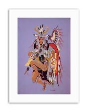 NATIVE AMERICAN DEER DANCE FEATHER Painting Drawing Canvas art Prints
