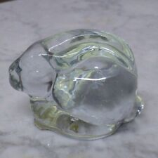 """Bunny Rabbit Paperweight Clear Glass 2"""" Tall 2.5"""" Long"""