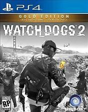 Watch Dogs 2: Gold Edition (Sony PlayStation 4, 2016) * Pre-owned*