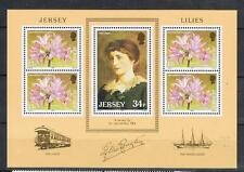 Jersey 1986 Lilien of Jersey Mini Sheet MNH