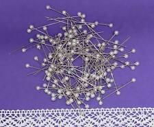 150 Perlennadeln Nadeln Hochzeit 4mm weiß 4cm lang Dekonadeln Perlkopfnadeln