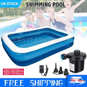 XL Inflatable Paddling Pool Garden Kids Fun Toys Family Swimming Pools OutdoorUK