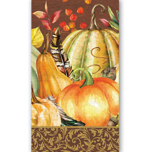 Michel Design Works Sweet Pumpkin Harvest 15 Triple-Ply Paper Hostess Napkins