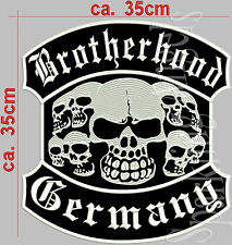 Brotherhood Germany Aufnäher Patch. 35cmx35cm