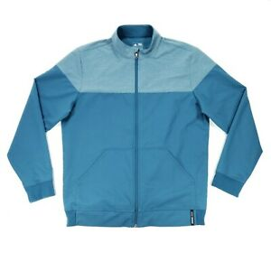 Adidas Golf Full Zip Jacket Men's Large Teal Blue