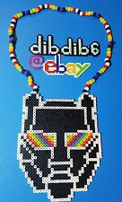 Black Tiger Sex Machine BTSM kandi perler necklace rave EDC PLUR