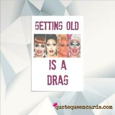 FUNNY BIRTHDAY CARD / CARD FOR FRIEND / RU PAUL DRAG RACE BIRTHDAY CARD