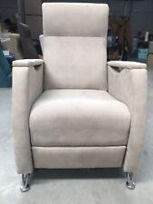 Sillón reclinable, cómodo sillón relax, moderno, barato, gris claro