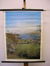 Murs Carte Ecosse Scotland Highlands Loch Sunart Glasgow 54x72 vintage
