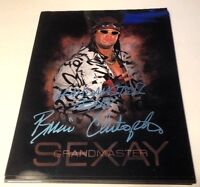 BRIAN CHRISTOPHER LAWLER GRANDMASTER SEXAY autographed 8x10 WWE Too Cool Blue