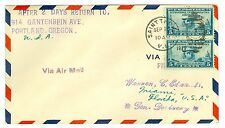 1929 LINDBERGH PANAM AAMC #58 FAM 6-17 ST THOMAS TO MAIMI FLIGHT COVER, #650 X 2