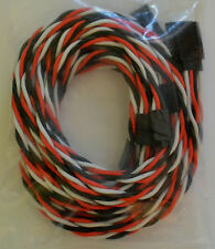 (5) Futaba Servo Extension Leads with 90CM Heavy Duty Twisted 20awg Wire