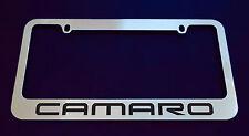2 CHEVROLET CAMARO V1 LICENSE PLATE FRAME, CUSTOM MADE OF CHROME 2 Frames