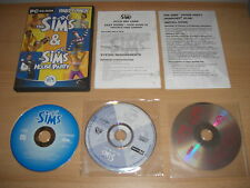 THE SIMS Party Pack inc SIMS 1 base game + HOUSE PARTY Add-On Expansion Pack Pc