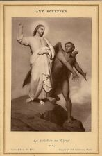 PHOTOGRAPHIE ARY SCHEFFER LA TENTATION DU CHRIST CARTE ALBUM N°672