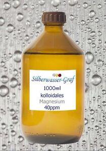 KOLLOIDALES MAGNESIUM – Hochvolt-Verfahren   1000 ml - Magnesiumwasser