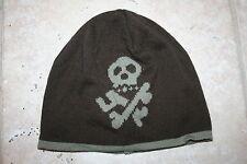 Mini Boden Boys Large Skull and Bones Stocking Cap Hat