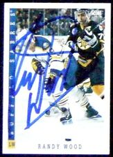 Randy Wood Buffalo Sabres 1993-94 Score Signed Card