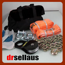 8 PIECE 4WD WINCH RECOVERY KIT 4X4 OFF ROAD 1 Year WT