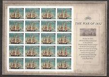 2012 #4703 The War of 1812: USS Constitution Pane of 20 MNH Regular