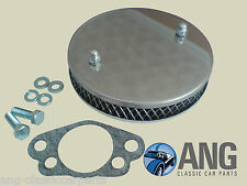 "TRIUMPH TR4A, TR5, TR6 STAINLESS STEEL HS6 (1 ¾"") SU PANCAKE AIR FILTER & GASKET"