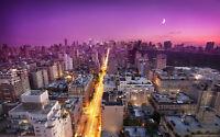 "SUNSET NEW YORK A3 CANVAS GICLEE PRINT POSTER FRAMED 16.5"" x 11.1"""