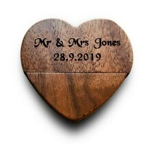 Personalised Wood Heart 8GB USB Memory Stick Wedding Photos Anniversary Gift