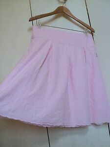 tightrope super cute girly pink skirt broderie anglais 10 embroidered *