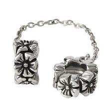 Authentic SilveRado FLOWER SAFETY CHAIN European Charm Bead
