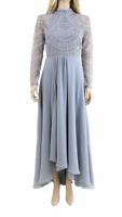 ASOS DESIGN  With Long Sleeve Embellished Bodice Maxi Wedding Dress UK 12 40 £99