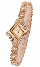 Designer Crystals Rhinestone Fashion Party/Dress Watch Ladies Women's ROSE GOLD