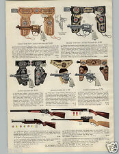1956 PAPER AD Toy Holster Set Shotgun Rifle Pony Boy Double Single Barrel Jet