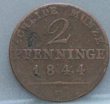 German States Duitsland -  2 Pfenninge pfennig 1844 D  Preußen Pruisen