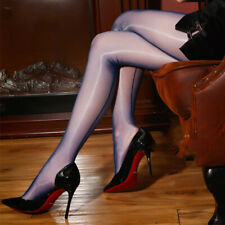 High Glossy 1D CleanCut Pantyhose Seamed Nylons Stockings Shiny Tights Hosiery