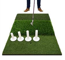 Golf Abschlagmatte Übungsmatte Training Matte mit 5 Gummi Tees Garten Hause DHL
