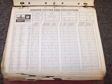 Terex TS18 33TOT 92SH Tractor Scraper Factory Original Parts Catalog Manual