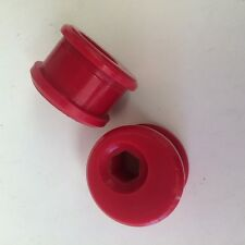 E46 Eccentric Front Wishbone Rear Bushes in Red Duraflex Polyurethane