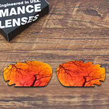 T.A.N Polarized Replacement Lenses for-Oakley Racing Jacket Vented Orange Red