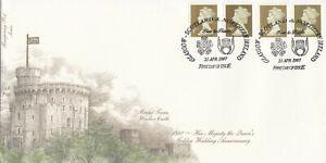 (60037) GB Fourpenny FDC 1st 26p Golden Wedding Definitives Scotland & N.I. 1997