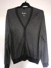 BODEN Mens XL Grey Cardigan Cotton Merino Wool Mix