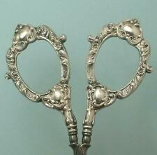 Antique American Sterling Silver Embroidery Scissors by Wm Link * Circa 1890s
