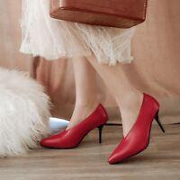 UK Women's Pointed Toe Pumps High Heel Fashion Shoes Plus Size Stilettos Sandals