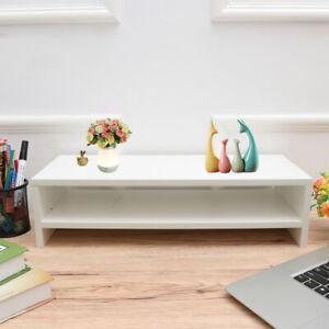 Computer Monitor Laptop Stand Speaker TV Riser Monitor Base Shelf Desk Organiser