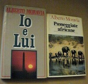 lotto 2 libri Alberto Moravia IO E LUI / PASSEGGIATE AFRICANE/ Euroclub 1991