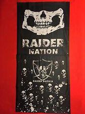 Raider Nation Motorcycle Biker Skull Cap Bandana Head Wrap Doo Rag Paisley