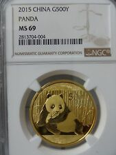 2015 China Gold Panda (1 oz) 500 Yuan - NGC MS69